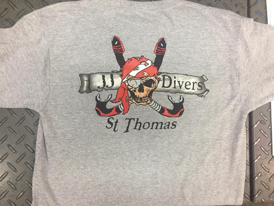 st thomas dive tee shirts
